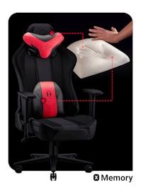 Látková herní židle Diablo X-Player 2.0 Kids Size: karmínovo-antracitová Diablochairs