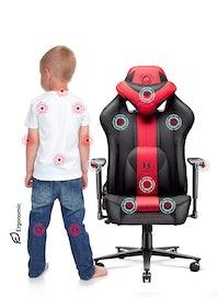 Fotel dziecięcy Diablo X-Player 2.0 materiałowy Kids Size: Karmazynowo-antracytowy