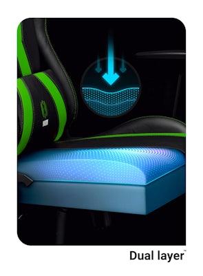 Gaming Stuhl Diablo X-Horn 2.0 Normal Size: Schwarz-Grün