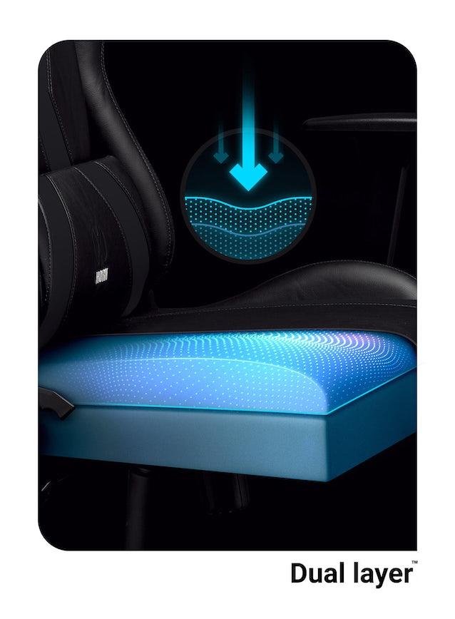 Gaming Stuhl Diablo X-Horn 2.0 King Size: Schwarz
