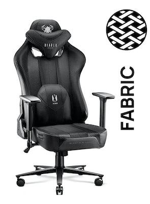 Látková herní židle Diablo X-Player 2.0 Normal Size: černá Diablochairs