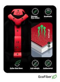 Gaming Stuhl Diablo X-Player 2.0 Stoffbezug King Size: Karminrot-Anthrazit
