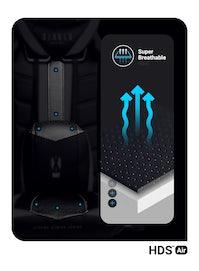 Gaming Stuhl Diablo X-Ray Normal Size: Schwarz-Rot