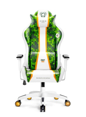 Gaming Chair Diablo X-One Craft Normal Size: white-green