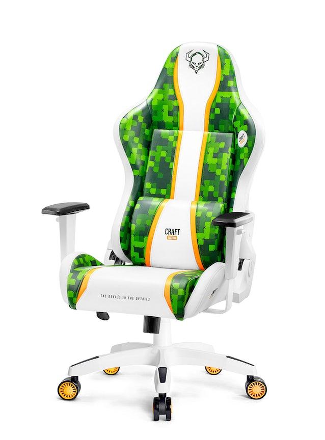Herní židle Diablo X-One Craft Normal Size: Bílo-zelená Diablochairs