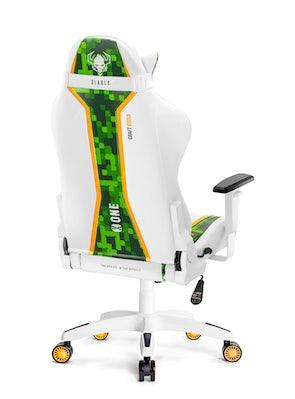 Scaun de gaming Diablo X-One Craft Normal Size: Alb-verde Diablochairs