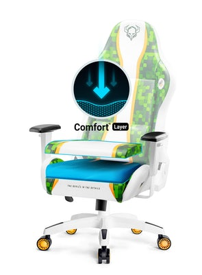 Fotel gamingowy Diablo X-One Craft Normal Size biało-zielony