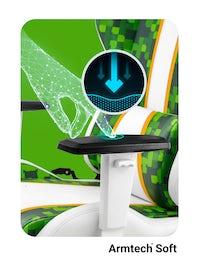 Fotel gamingowy Diablo X-One 2.0 Craft Normal Size biało-zielony
