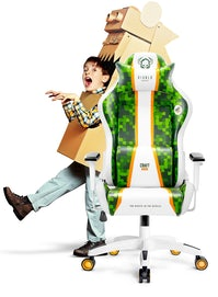 Detské otočné herné kreslo Diablo X-One Craft Kids Size: Bielo-zelená Diablochairs