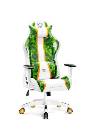 Fotel gamingowy Diablo X-One Craft Kids Size biało-zielony