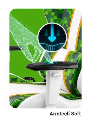 Fotel gamingowy Diablo X-One 2.0 Craft Kids Size biało-zielony