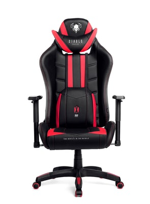 Gaming Stuhl Diablo X-Ray Normal Size: Schwarz-Rot