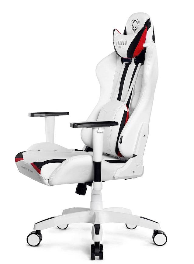 Fotel gamingowy Diablo X-Ray King Size: Biało-czarny