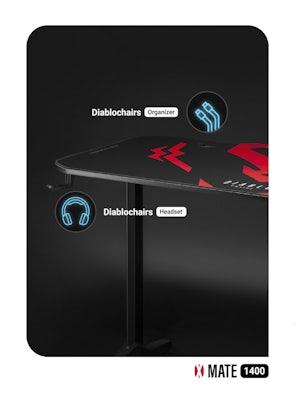 HERNÍ STŮL DIABLO X-MATE 1400 černý Diablochairs