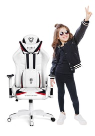 Fotel dziecięcy Diablo X-Ray Kids Size: Biało-czarny