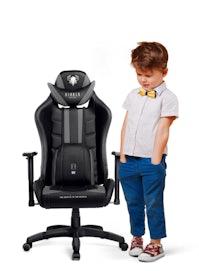 Kinder Schreibtischstuhl Diablo X-Ray Kids Size: Schwarz-Grau