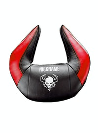 Personalisierte Kopfstütze Diablo Chairs X-Horn: Schwarz-Rot