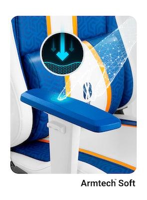 Herní židle Diablo X-One Normal Size: Aqua Blue / Modrá Diablochairs