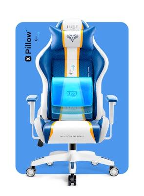 Detské otočné herné kreslo Diablo X-One 2.0 Kids Size: Aqua blue / Modrá Diablochairs