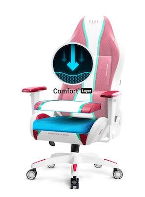 Herní židle Diablo X-One Normal Size: Candy Rose / Růžová Diablochairs