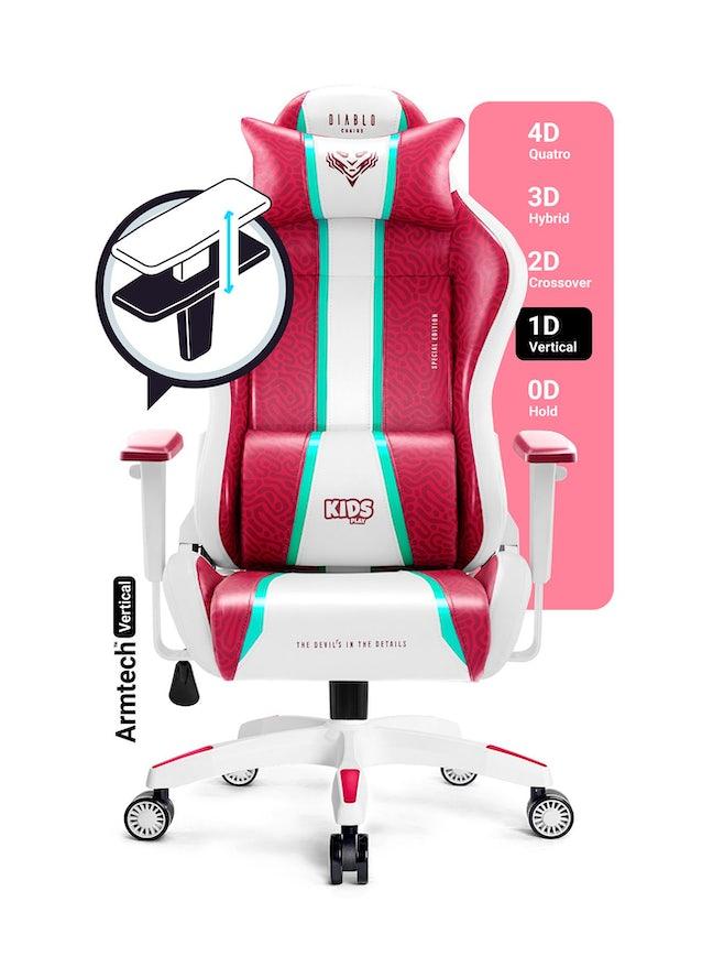 Diablo X-One 2.0 forgatható gamer szék gyerekeknek Kids Size: Candy Rose / Rózsaszín Diablochairs