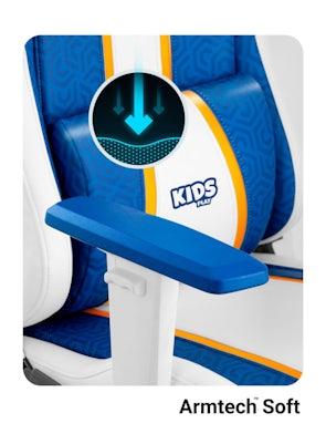 Scaun pentru copii Diablo X-One Kids Size: Aqua blue / Albastru Diablochairs
