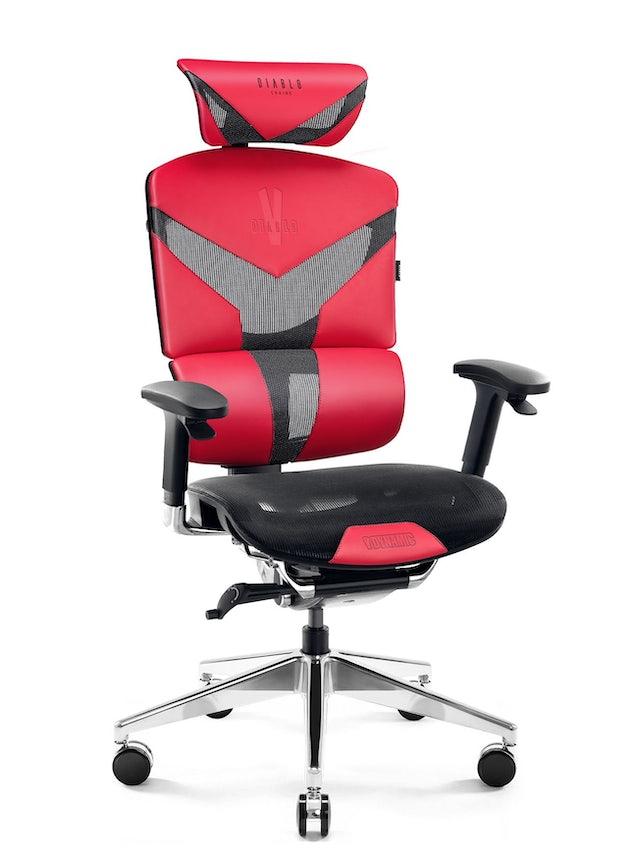 Ergonomická židle DIABLO V-DYNAMIC: karmínová Diablochairs