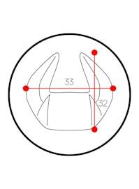 Poduszka zagłówek Diablo Chairs X-Horn ze spersonalizowanym haftem czarno-biała