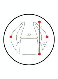 Poduszka zagłówek Diablo Chairs X-Horn ze spersonalizowanym haftem czarno-niebieska