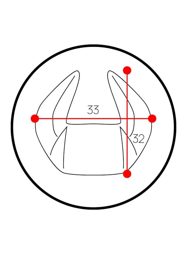 Poduszka zagłówek Diablo Chairs X-Horn ze spersonalizowanym haftem czarna