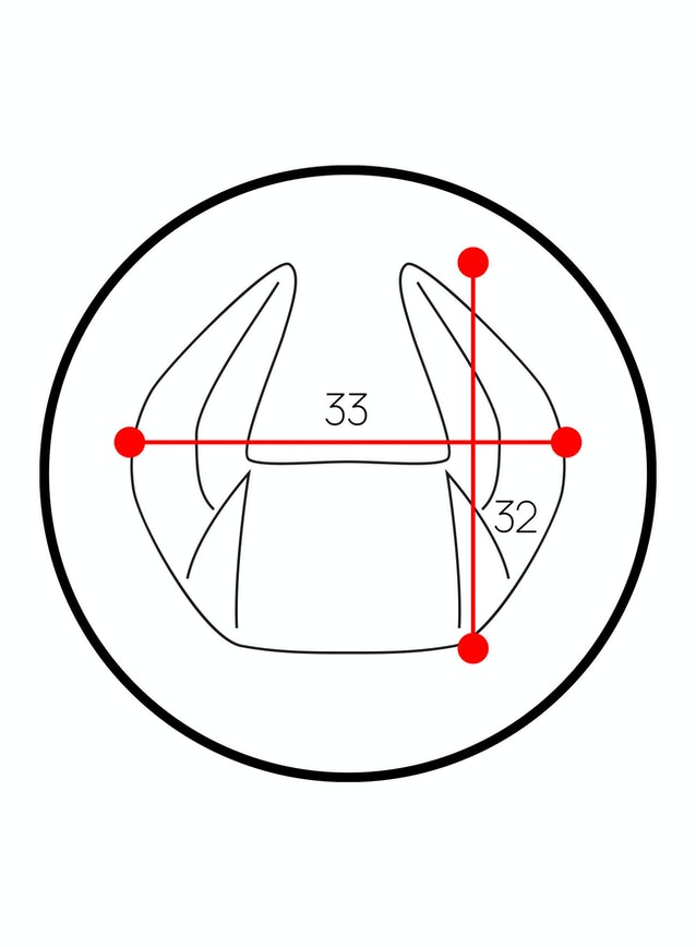 Poduszka zagłówek Diablo Chairs X-Horn ze spersonalizowanym haftem czarno-zielona