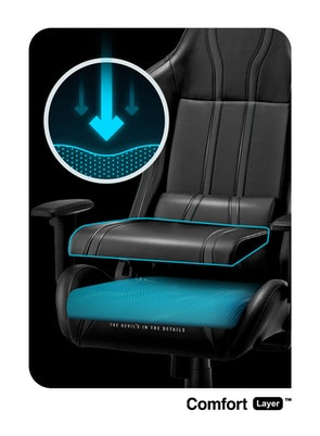 Fotel gamingowy Diablo X-One 2.0 Normal Size: Czarno-niebieski