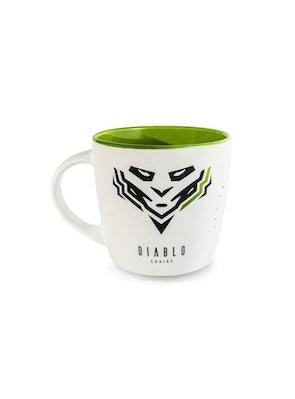 Kubek Diablo Chairs biało-zielony