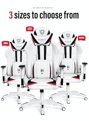 Herní židle Diablo X-Ray King Size: Bílo-černá Diablochairs