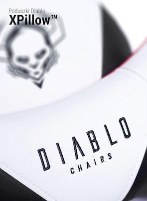 Herné kreslo Diablo X-Ray Normal Size: Bielo-čierne Diablochairs