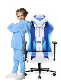 Detské látkové herné kreslo Diablo X-Player 2.0 Kids Size: Frost White/ biela Diablochairs