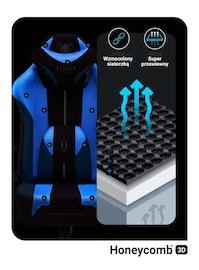 Fotel gamingowy Diablo X-Player 2.0 materiałowy King Size: Frost White