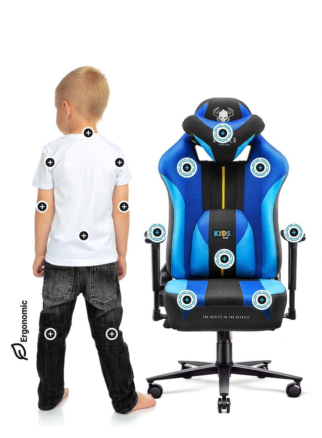Dětská látková herní židle Diablo X-Player 2.0 Kids Size: frost black/černá Diablochairs