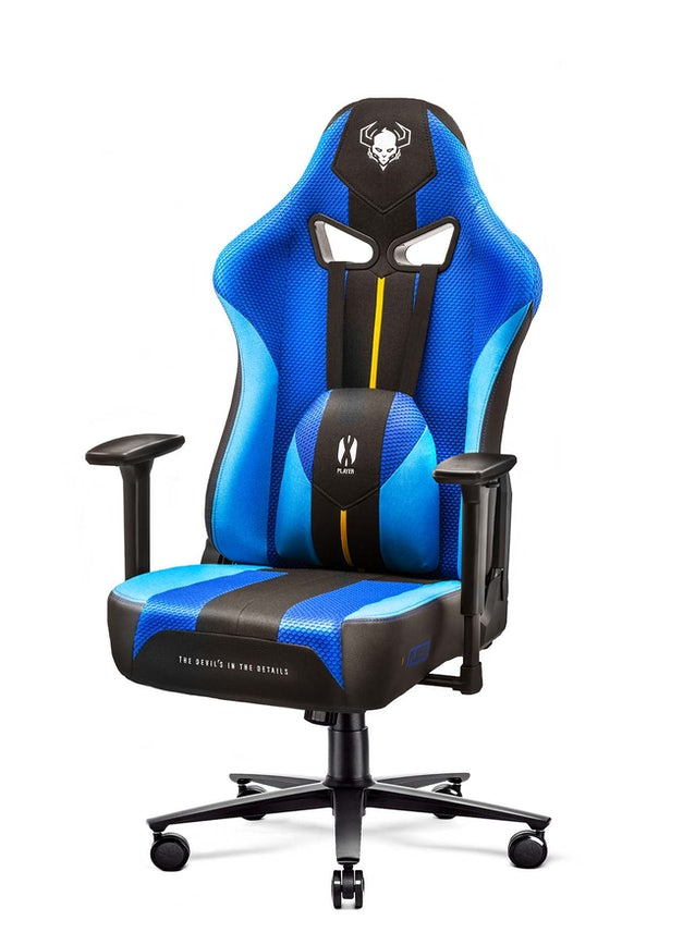 Gaming Stuhl Diablo X-Player 2.0 mit Stoffbezug Frost Black: Normal Size