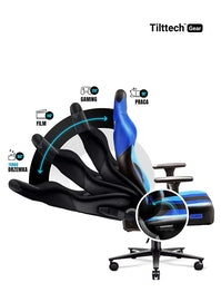 Fotel gamingowy Diablo X-Player 2.0 materiałowy Normal Size: Frost Black