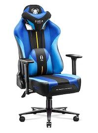 Fotel gamingowy Diablo X-Player 2.0 materiałowy King Size: Frost Black