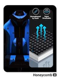 Látkové herné kreslo Diablo X-Player 2.0 King Size: frost balck/ čierne Diablochairs