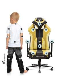 Dětská látková herní židle Diablo X-Player 2.0 Kids Size: dark sunflower / žlutá Diablochairs