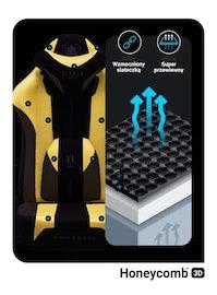 Fotel dziecięcy Diablo X-Player 2.0 materiałowy Kids Size: Dark Sunflower