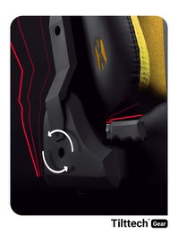Fotel gamingowy Diablo X-Player 2.0 materiałowy Normal Size: Dark Sunflower