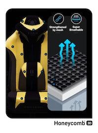Gaming Stuhl Diablo X-Player 2.0 mit Stoffbezug Normal Size: Dark Sunflower