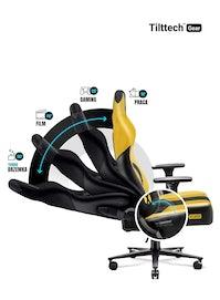 Fotel gamingowy Diablo X-Player 2.0 materiałowy King Size: Dark Sunflower