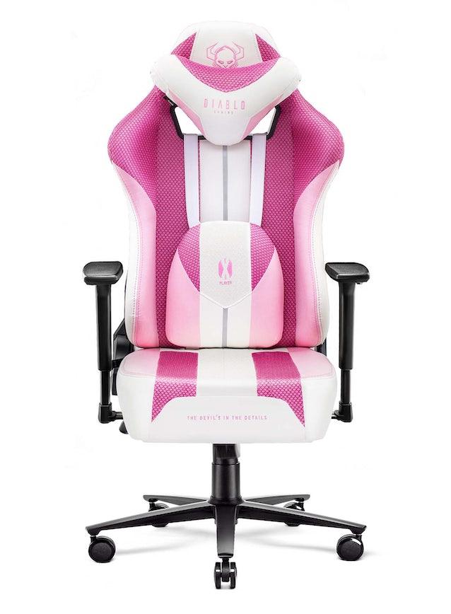 Fotel gamingowy Diablo X-Player 2.0 materiałowy King Size: Marshmallow Pink