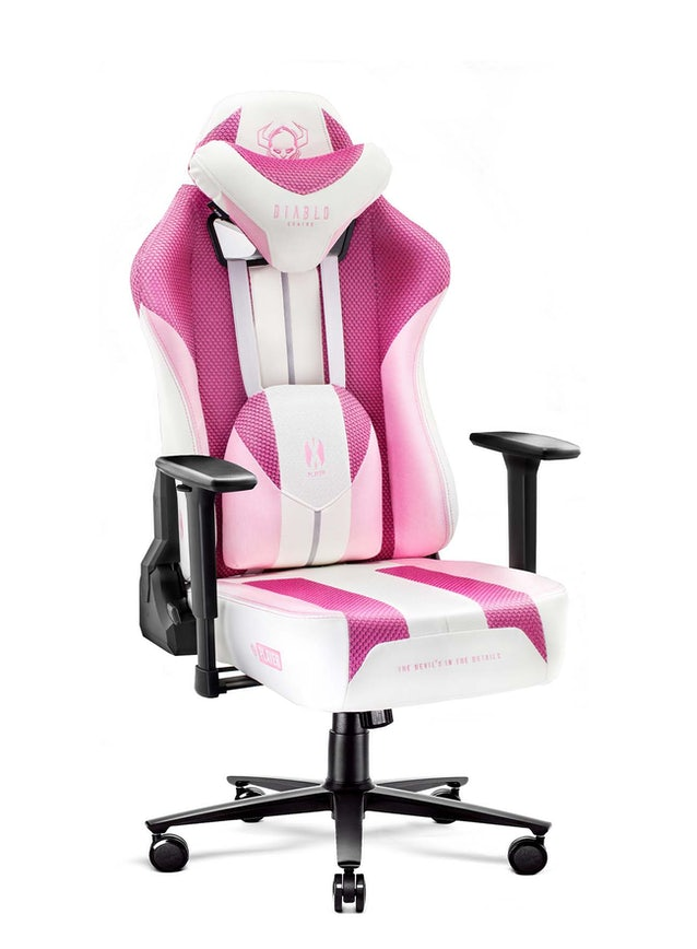 Fotel gamingowy Diablo X-Player 2.0 materiałowy Normal Size: Marshmallow Pink