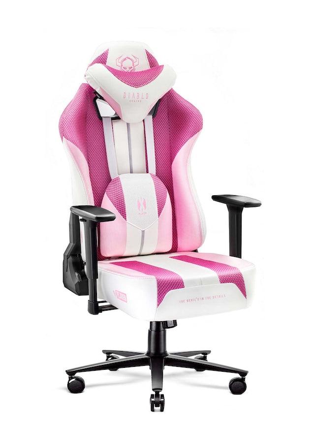 Gaming Stuhl Diablo X-Player 2.0 mit Stoffbezug Normal Size: Marshmallow Pink